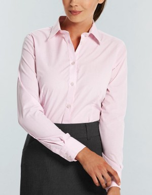 Gloweave Womens Long Sleeve Pink Shirt
