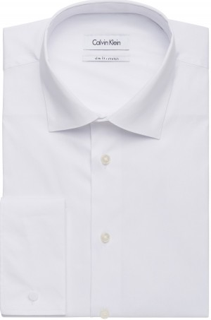 Calvin Klein Shirt White French Cuff