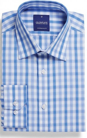 Gloweave Shirt Check Blue