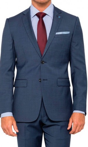 Pierre Cardin Suits Body Shot Blue