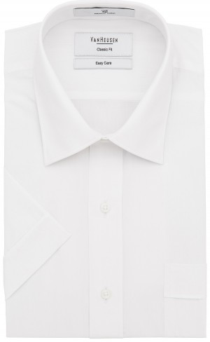 Save $15 Van Heusen Short Sleeve Shirt Classic Fit in Plain White