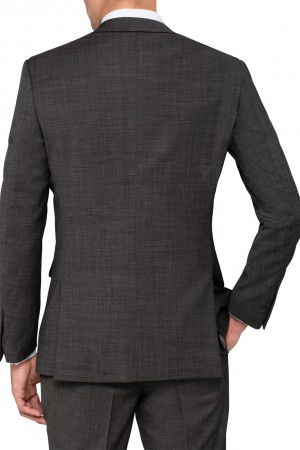 Pierre Cardin Suit Jacket Charcoal Rear View