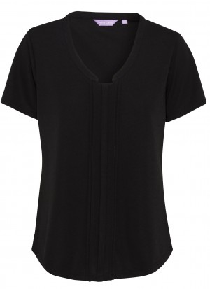 Pierre Cardin Womens Black Top