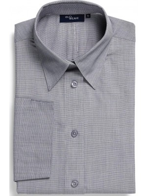 Womens Business Shirt by Gloweave in Silver, Slate