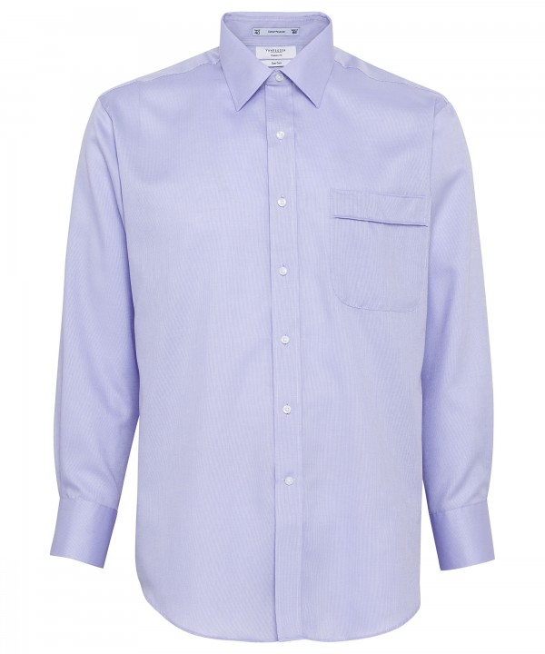 Van Heusen Shirt Lilac Full Shot
